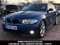 2005 BMW 116I SPORT LOW MILES FULL SERVICE HISTORY 2 KEYS 1.6 PETROL 5DR 114 BHP