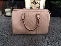 Stunning Gucci guccissima Boston bag in baby pink