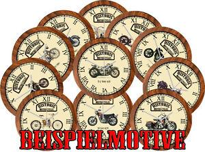 storiche-amp-Classic-Bikes-MARCA-B-Orologio-parete-con-STORICO-motociclette