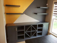 Custom Woodworking, Cabinets, Kitchen refacing.