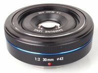 Samsung NX 30mm f2 Amazingly sharp prime pancake lens like new