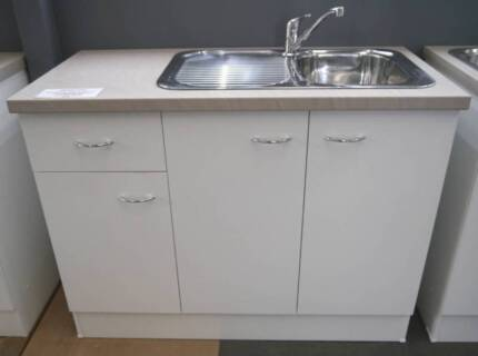 Second Hand double Kitchen Sink with mixer approx. 1200 x 500mm ...