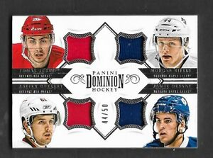 2013-14 Dominion Quad Jerseys #QRWML Leafs + Red Wings London Ontario image 1