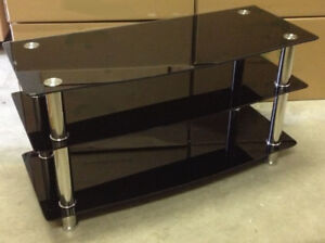 "TV STAND 41"" tempered glass,new"