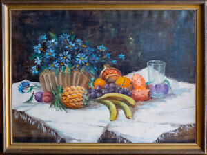 """Fruits""  _  Oil on Canvas Painting"