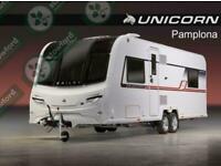 Bailey Unicorn 4 Pamplona, 2019, NEW/DISPLAY MODEL, Touring Caravan