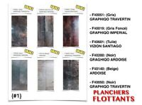 "(444-2)  PLANCHERS FLOTTANTS ""STRATIFIÉS"" (10mm)  EN SOLDE 0.59$"