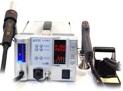 Aoyue 2702a Lead-free Hot Air Soldering Station Desoldering Gun Esd Safe 220v