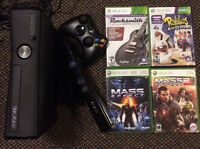 XBox 360 Console with Remote, Kinect & 4 Games