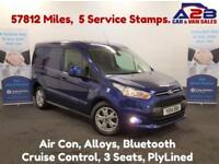 2014 14 FORD TRANSIT CONNECT 1.6 200 LIMITED 115 BHP, DEEP IMPACT BLUE, AIR CON,