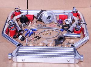 honda accord turbo kit ebay Honda Accord Air Intake jdm universal t3 t4 turbo kit turbocharger intercooler wastegate bov boost gauge fits honda accord
