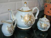 Ensemble de 3 mcx .... Théière Porcelain Fine  BIRKS