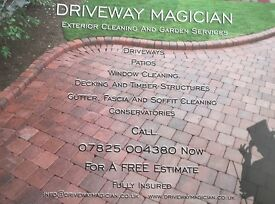 Driveway magician exterior cleaning and garden maintenance