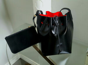 Brand new Genuine Leather Bucket Purse with Matching Wallet