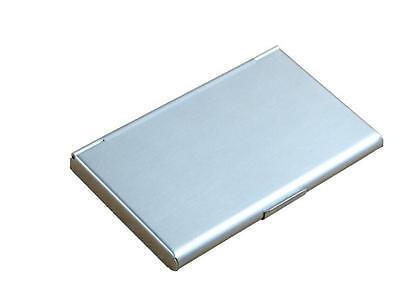Pocket Edelstahl & Metall Visitenkartenetui Case ID Geldbörse Silber