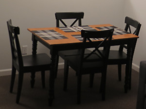 Ikea Black Dining Chairs; qty 4