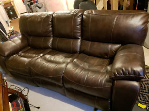Leather Power Recliner Couch and Chair for Sale