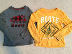 Roots long sleeve shirts size 5/6