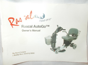 Rascal AUTOGO, Electric Scooter, like New