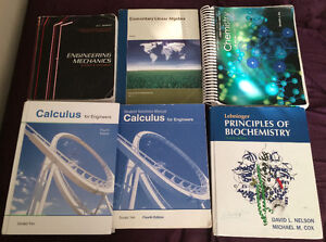 1st and 2nd year engineering/chemistry books