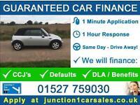CONVERTIBLE MINI 1.6 ONE 2007 57 GUARANTEED CAR FINANCE BAD CREDIT CCJ'S DEFAULT