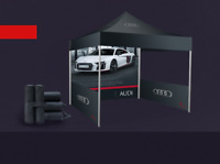 TENTS. CUSTOMIZED. BANNERS. POP UPS. TABLE COVER. FLAGS