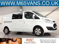 2015 FORD TRANSIT CUSTOM CREW CAB LIMITED LWB 2.2TDCi 125PS L2H1 COMBI LONG
