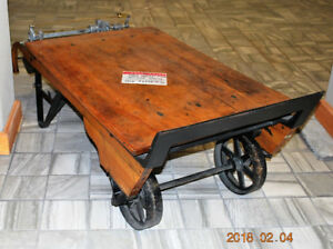 Antique circa 1920 Grain Weight Scale Coffee Table