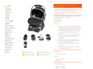 Babytrend EZ Flex-Loc Infant Car Seat/Carrier with two bases