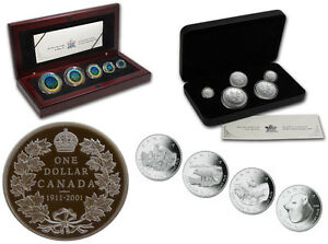 Hologram / Arctic Fox / Maple Leaf Fractional Silver Coin Sets
