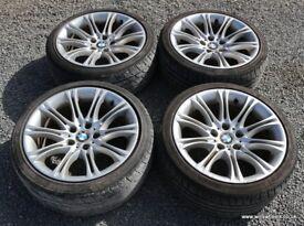 "BMW E60 E61 MV2 18"" Alloy Wheels & Tyres - E34 E38 E39 E90 E65 520d 525i 530i 530d 535d"