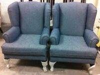Order New Wing Chairs with Fabric you want. Made In Canada