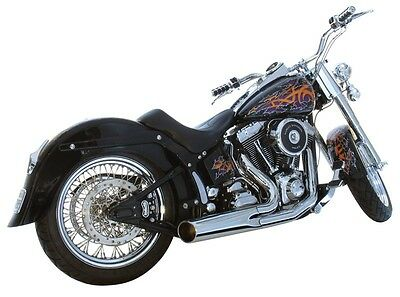 Harley Softail 2 Into 1 Exhaust Short Style Exhaust Price Reduced