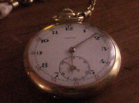 VINTAGE GOLD PLATED MAN'S POCKET WATCH