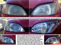 Get your Light back! Yellowed, blurry headlights be gone.