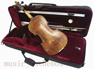 Special-Antique-Style-4-4-Hand-Made-Violin-Bow-Rosin-Case-Limited