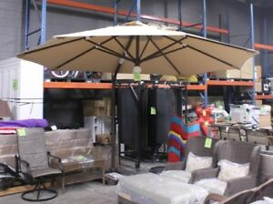 11.5' Round Cantilever Umbrella w/ Corded LED Light