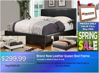 ◆Brand New Leather QN/DB Bed Frame◆ON SALE@New Direction!