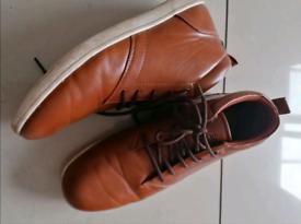 Tan boots/high tops