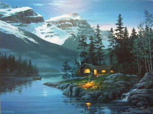Rocky Mountain Hideaway / Framed Lithograph / Fred Buchwitz