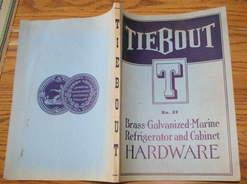 1939 189 page Tiebout  Marine Hardware Catalog Sailboat Boat Yacht Nautical
