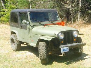 1986 cj 7 jeep  best offer takes it away
