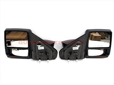 2007-2014 Ford F150 Telescopic Trailer Tow Power Heated Mirrors Set PAIR OEM NEW