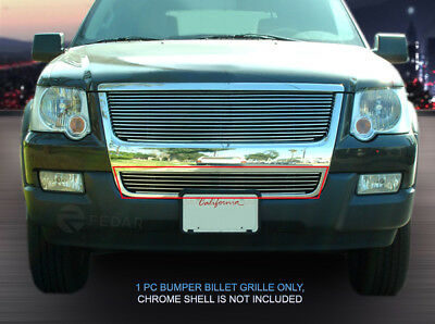 Polished Billet Grille Front Grill Bumper Insert For Ford Explorer 2006-2007