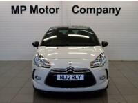 2012 12 CITROEN DS3 1.6 DSTYLE PLUS 3D 120 BHP SPORTS HATCH, WHITE, 24-000M FSH