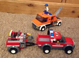 Lego City Fire Rescue and Tow Truck Vehicles