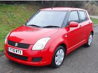 2010 SUZUKI SWIFT 1.3 SZ2 5 DOOR HATCHBACK, Red, Manual, Petrol