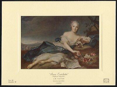 Uffizi Gallery - Nattier ANNA HENRIETTE of France as Flora Louis XV 1969 Uffizi Gallery art card