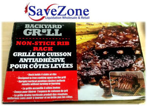 NEW- Non-Stick Rib Rack- 4 slabs of ribs- vertical position
