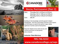 Canadore College, Parry Sound, Digital Photography Part 2